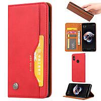 Чехол книжка для Huawei P Smart Plus   Nova 3i боковой с отсеком для визиток, ORIGINAL, красный