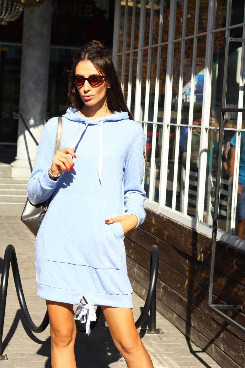 b3d5ee3de52 Короткое теплое платье - худи с капюшоном - Solodkova в Харькове