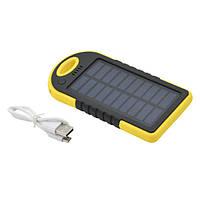 🔝 Портативная зарядка на солнечной батарее, Solar Power Bank, Павер Банк, ES500 | 🎁%🚚