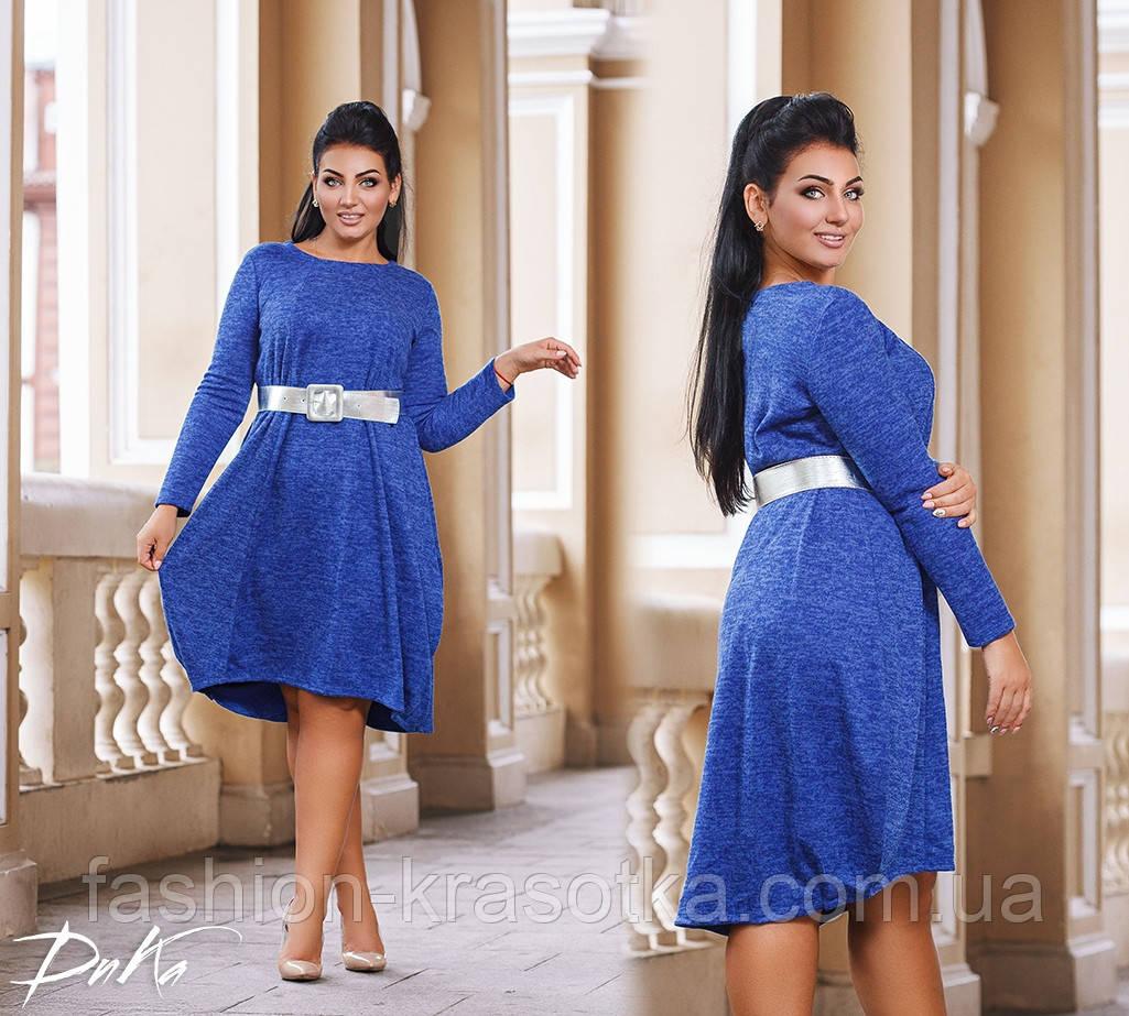 Платье свободного кроя в размерах 50-56