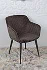 Кресло BAVARIA (Бавария) антрацит от Niсolas, велюр, фото 4