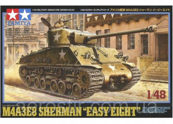 "M4A3E8 Sherman ""Easy Eight"" с фигурой командира 1/48 TAMIYA 32595"