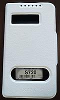 Чехол-книжка для Lenovo S720, Кожанный, Pielcedan, белый, фото 1