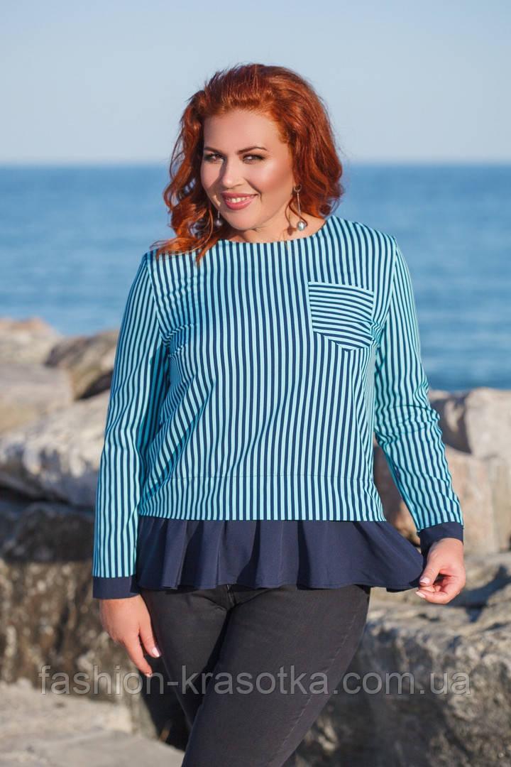 Модная женская блузка  в размерах 42-56