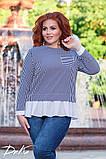 Модная женская блузка  в размерах 42-56, фото 3