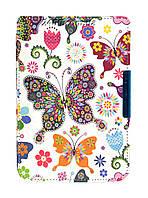 Обложка - чехол для электронной книги PocketBook 614/615/624/625/626/Touch Lux 3 с графикой Бабочки