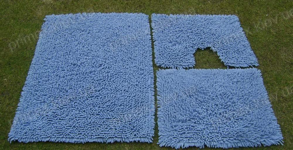 Коврик для ванной хлопковый, 50*60см. цвет голубой. Коврик для ванной купить