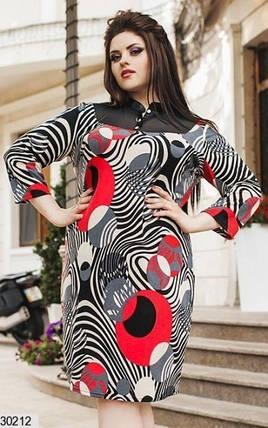 """Стильное женское платье ткань """"Ангора"""" мягкая 50, 52 размер батал, фото 2"""
