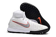 Футбольные сороконожки Nike MagistaX Proximo II TF White/Metallic Cool Grey/Light Crimson, фото 1