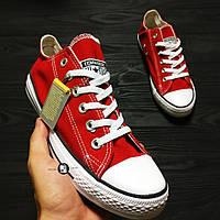 Мужские кеды в стиле Converse Chuck Taylor All Star Low Red Красные