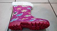 Резиновые сапоги для девочек со съемным носком, размеры 28-35, фото 1