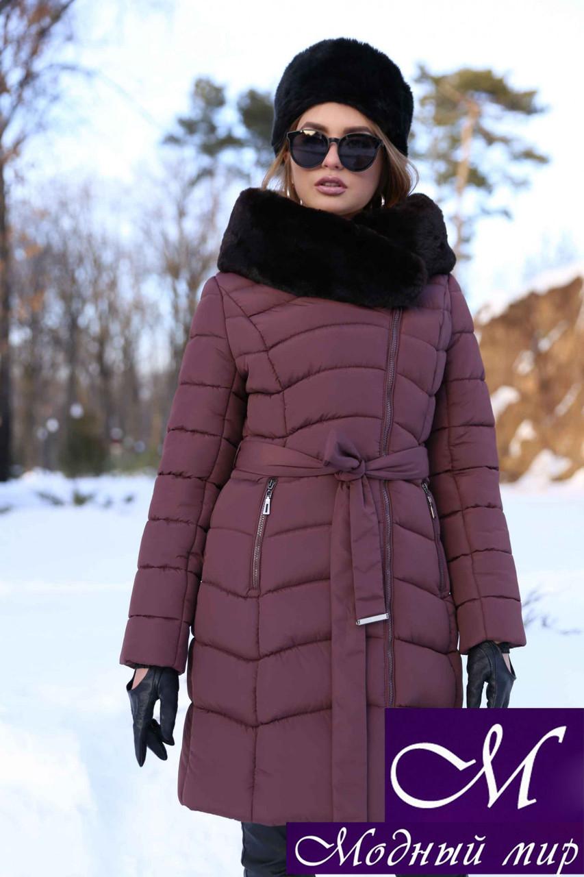 8b5e7529559 Женская длинная зимняя куртка с капюшоном (р. 42-56) арт. Альмира 2 ...