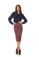 Женская юбка карандаш клетка. Ю065, фото 1