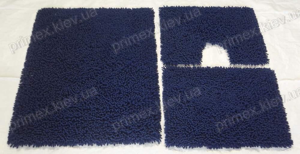 Коврик для ванной хлопковый, 70*100см. цвет синий. Набор в ванную цена
