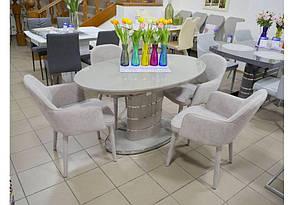 Кресло мягкое  Roli (Роли) MC - 16-2  Evrodim, обивка жаккард цвета карамель, фото 3