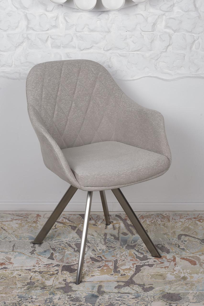 Кресло поворотное ALMERIA (Альмерия) бежевое от Niсolas, ткань