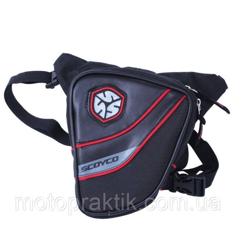 SCOYCO MB14 (23x25x3см), Black, Мото сумка набедренная водонепроницаемая