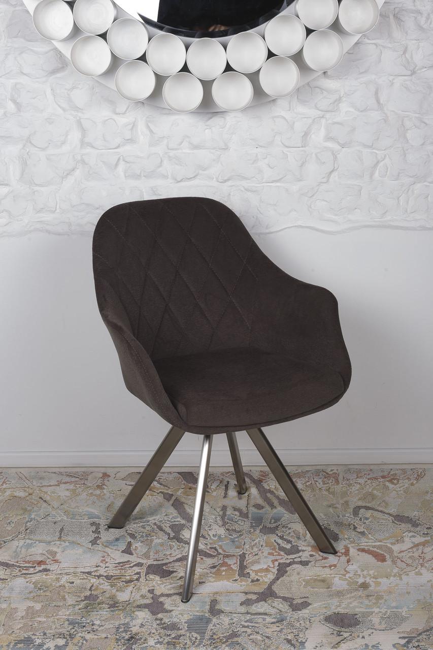 Кресло поворотное ALMERIA (Альмерия) коричневое от Niсolas, ткань