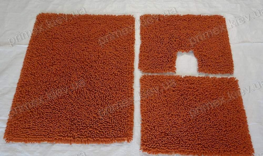 Коврик для ванной хлопковый, 50*60см. цвет оранжевый. Набор для ванной комнаты цена