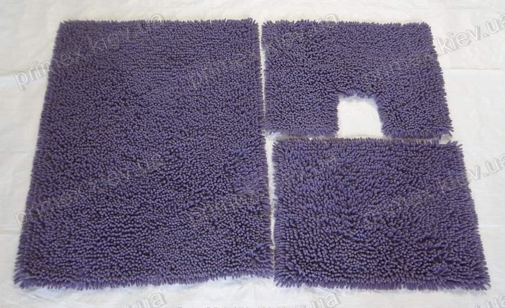 Коврик для ванной хлопковый, 50*60см. цвет сиреневый. Набор для ванной комнаты цена