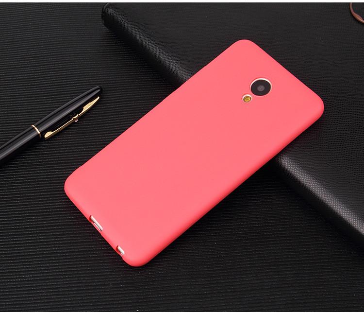 Чехол Meizu 15 Lite / M15 5.46'' силикон soft touch бампер красный