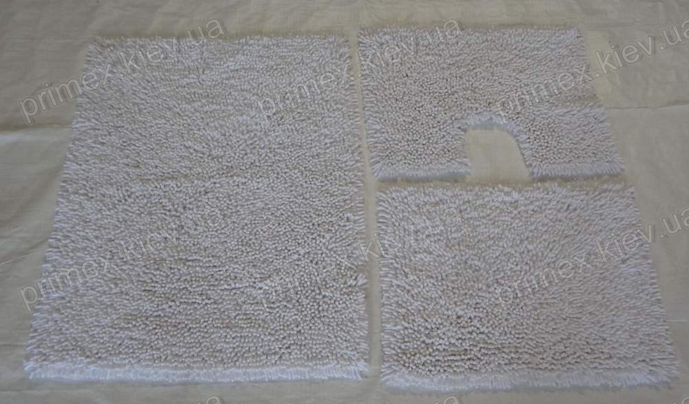Коврик для ванной хлопковый, 50*60см. цвет белый. цена