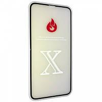 Защитное стекло 2,5+D (рамка) Blue light для iPhone X - black