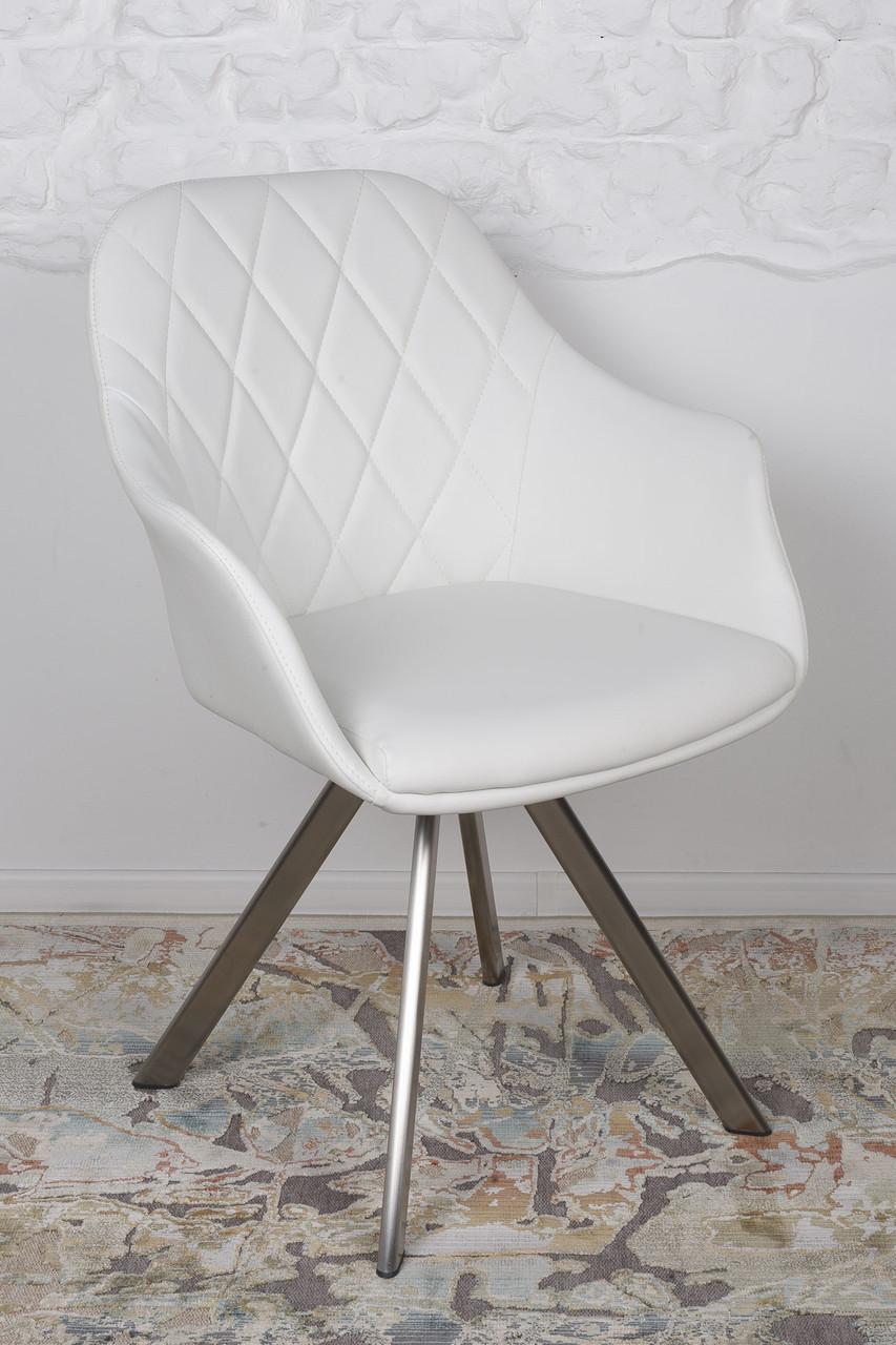Кресло поворотное ALMERIA (Альмерия) белое от Niсolas, экокожа