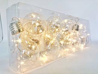 Гирлянды декоративные на лампочках, диаметр 6см, длина 180см на батарейках АА , фото 2