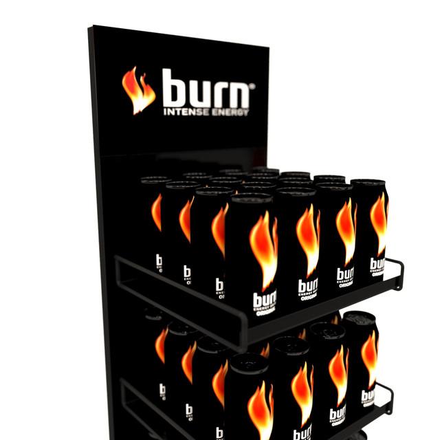 Изготовление стендов Burn на заказ для магазинов