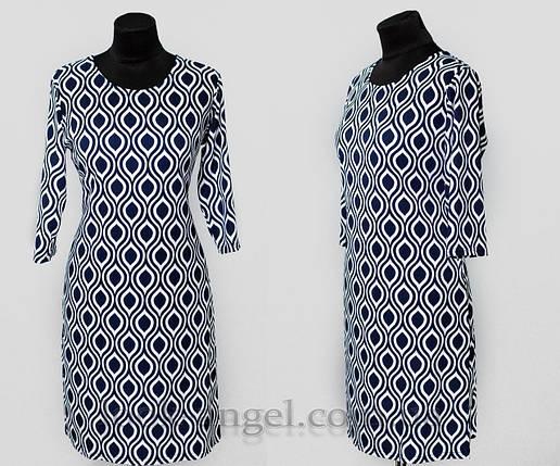 """Женское платье """"хлопок+стрейч"""" 50 размер батал, фото 2"""