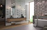 20x50 Керамическая плитка Osaka Flower стена серая, фото 2