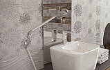 20x50 Керамічна плитка Osaka Flower сіра стіна, фото 3