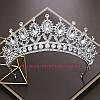 Диадема под серебро, корона для девочки, тиара, высота 6,5 см.