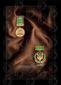 """Медаль нагрудная """"85 років"""" и ведомственная награда """"За заслуги"""""""