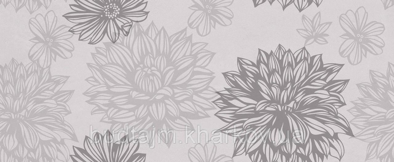 20x50 Керамическая плитка Osaka Flower стена серая