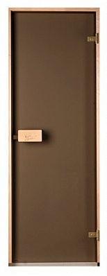 Скляні двері для лазні та сауни Classic матова бронза 80/200 (осика)