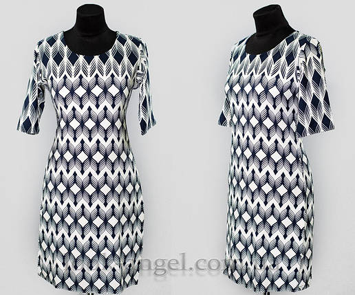 """Женское платье """"хлопок+стрейч"""" 48 размер батал, фото 2"""