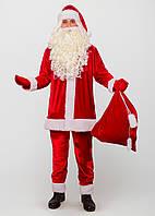 Костюм Санта Клауса вельвет с Бородой и Париком
