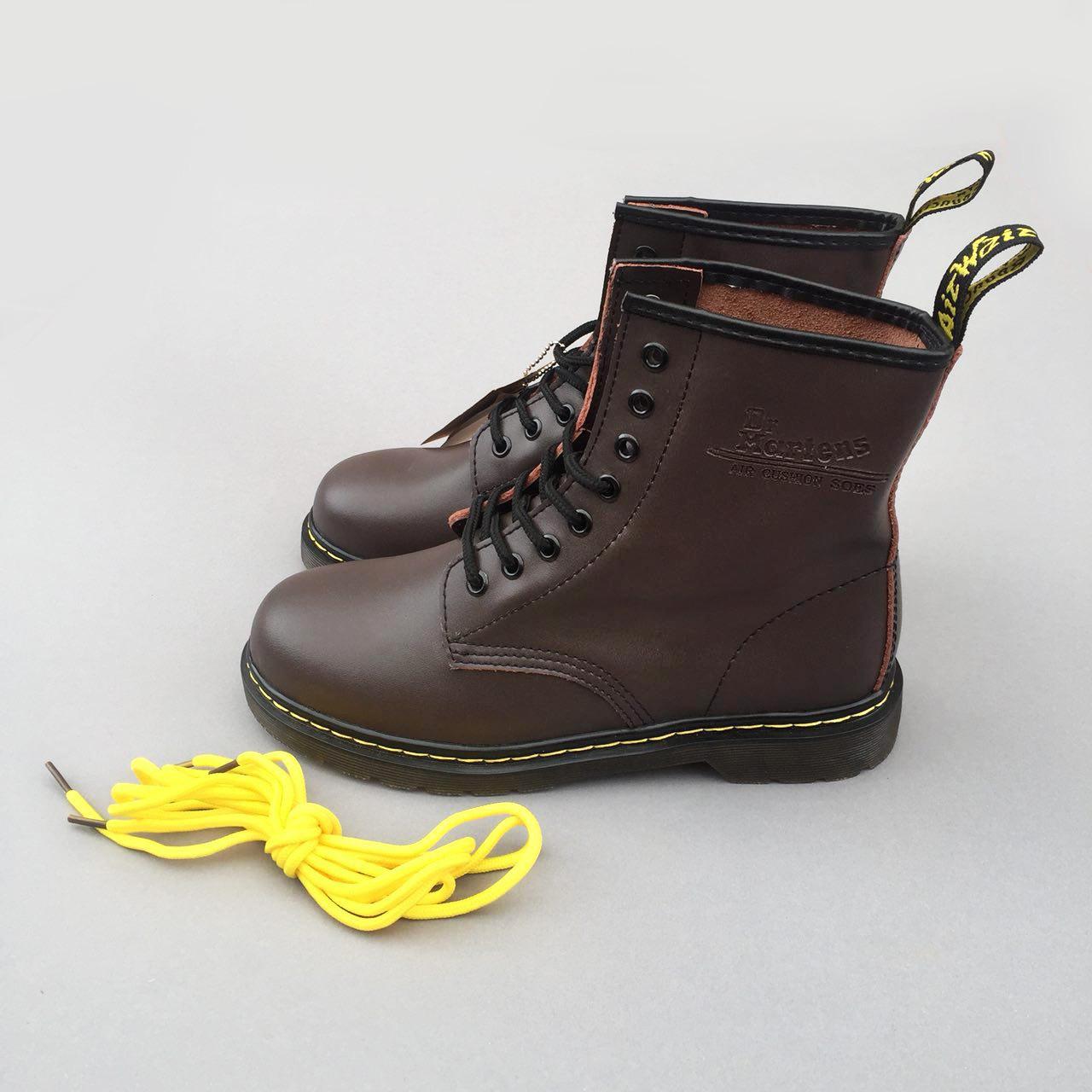 "Ботинки Dr. Martens Air Cushion Shoes ""Brown"" (Коричневые)"