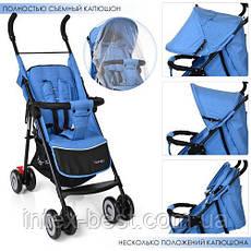 Прогулочная коляска Bambi M 3458-2-12 Голубой, фото 2