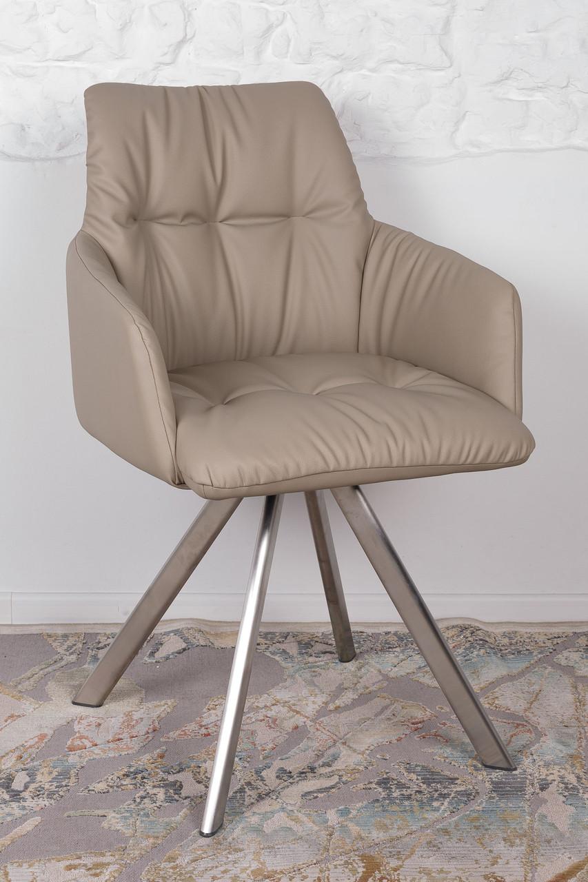 Кресло поворотное LEON (Леон) бежевое от Niсolas, экокожа