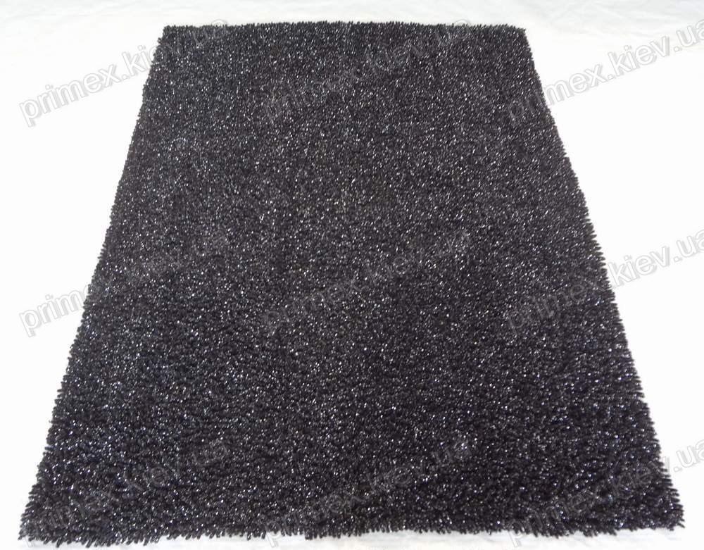 Коврик для ванной хлопковый с люрексом, 70*100см. цвет черный. Набор для ванной комнаты цена