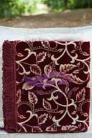 Комплект полуторный, гобелен ковровый 140х200. Листва осени бордо, фото 1