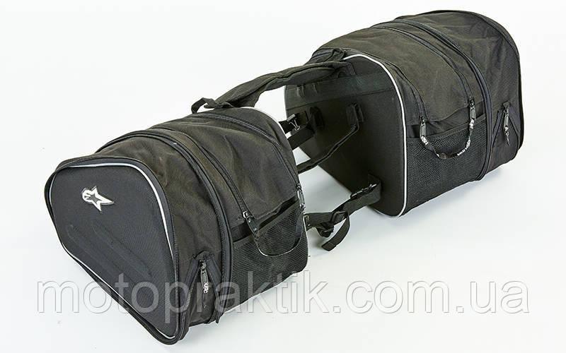 Alpinestars B1208, (р-р 39х33х20см), Black, Мотосумки боковые текстильные