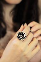 """Кольцо """"Цветок"""" покрытие 18к золом. размер регулируется."""