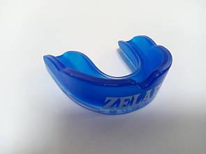 Капа боксерская юниорская односторонняя (одночелюстная) в футляре Zelart BO-3603 синяя