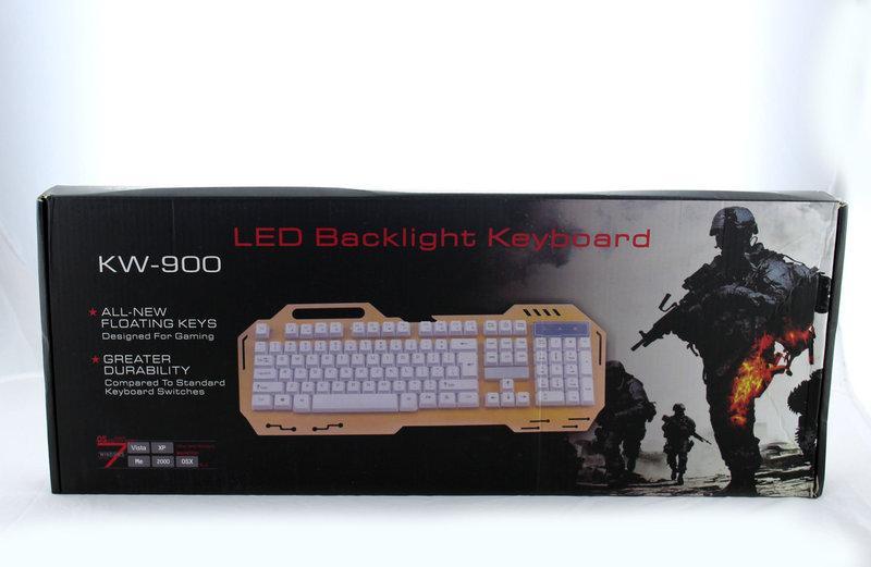Проводная компьютерная клавиатура KEYBOARD GK-900 / игровая клавиатура / геймерская