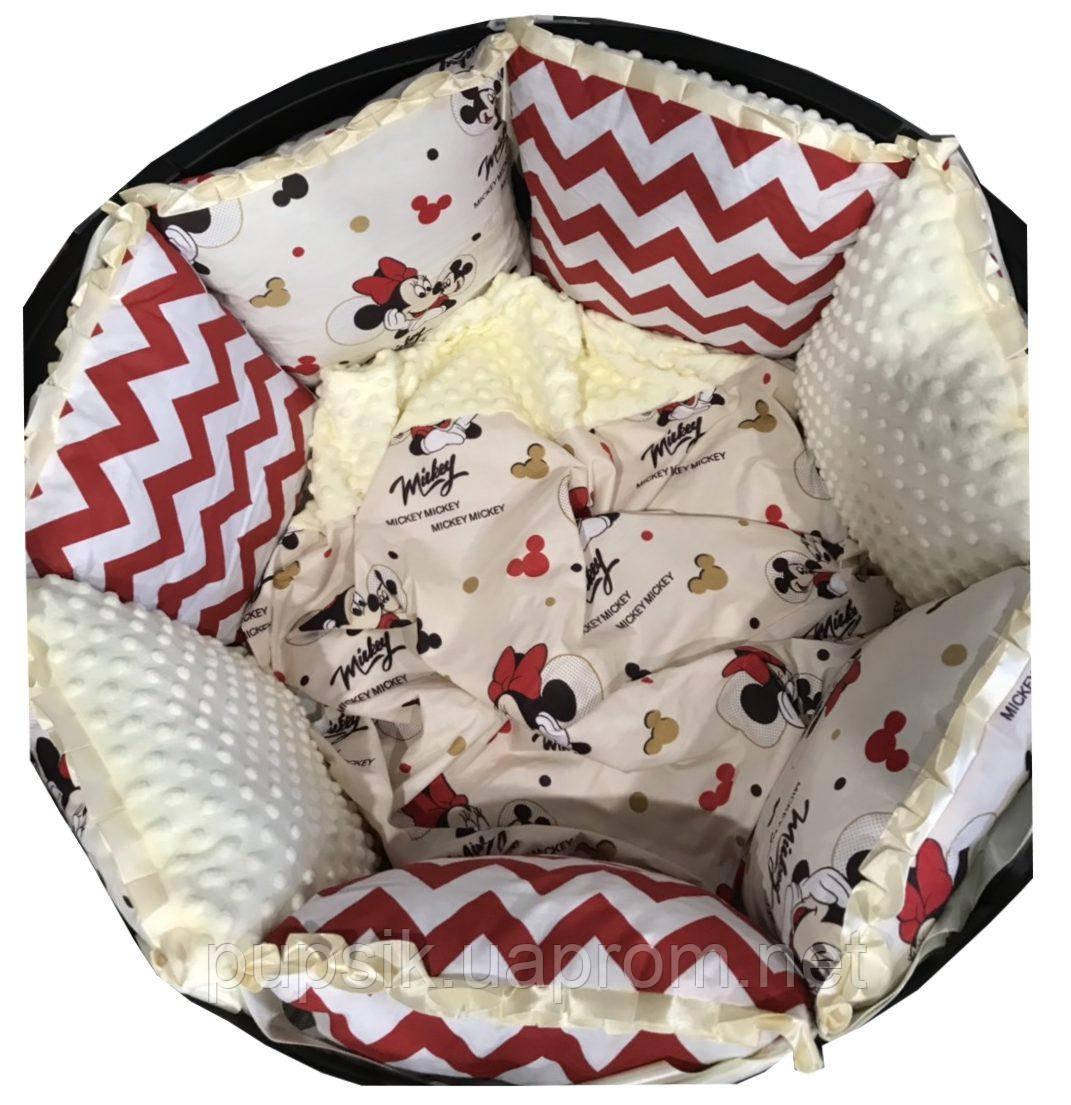 Постельный комплект для круглой и овальной кроватки Labona BABY SOFT (6 элементов)