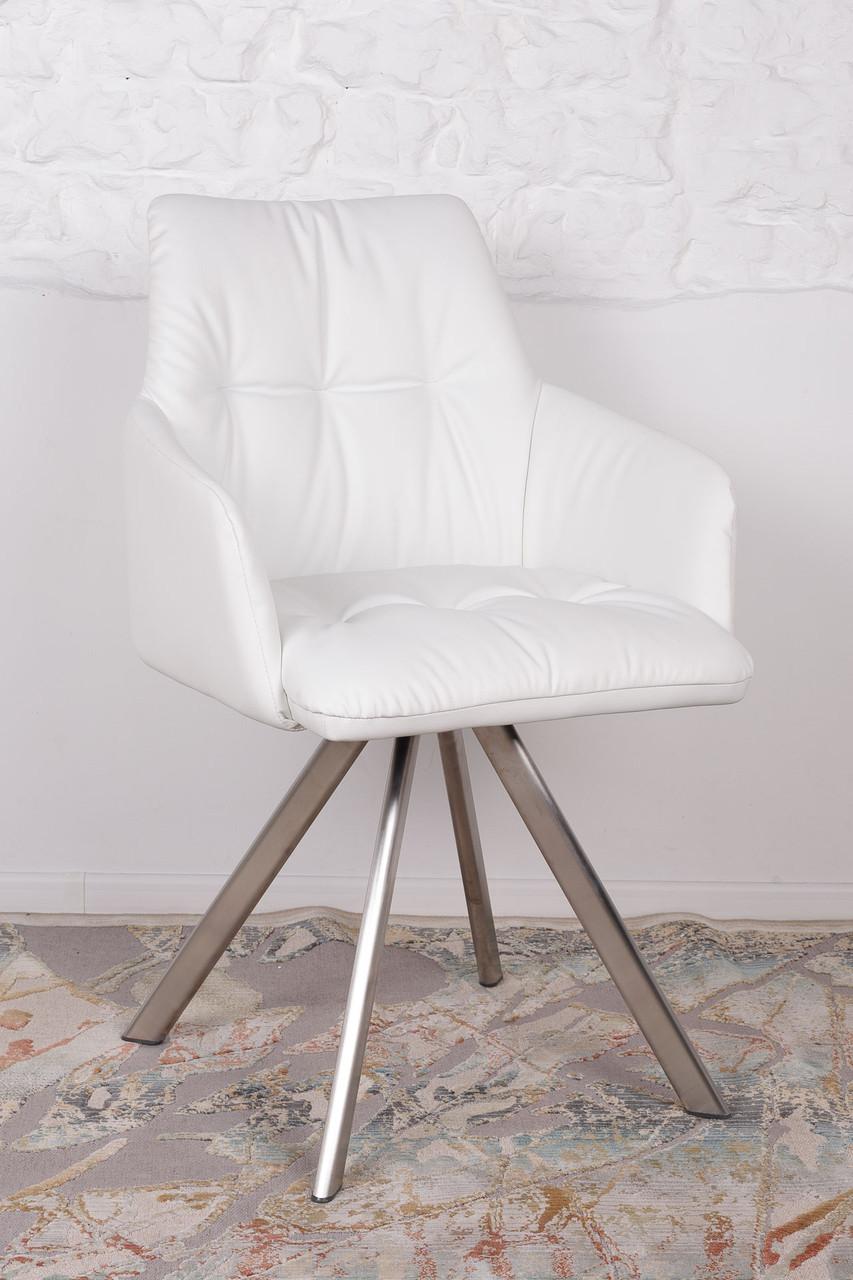 Кресло поворотное LEON (Леон) белое от Niсolas, экокожа